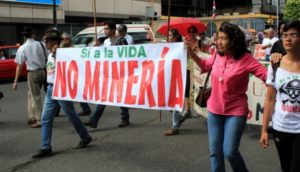 a mining protest costa rica