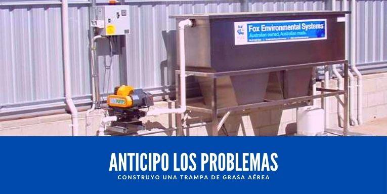 construyo una trampa de grasa aerea en las estaciones de servicio de hidrocarburos y combustibles