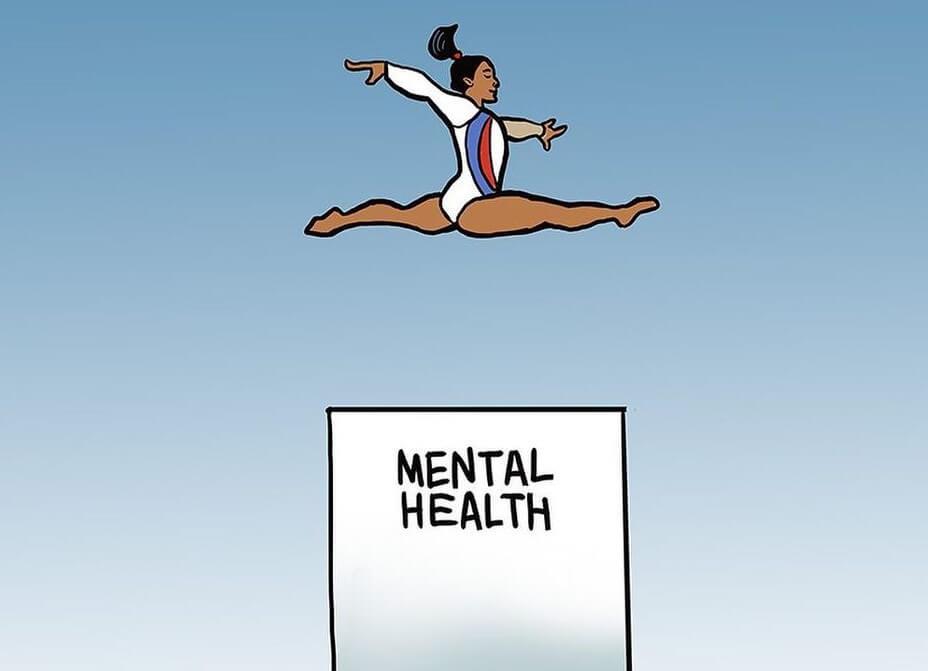 Un paso atrás. Simone Biles, salud mental en los trabajadores